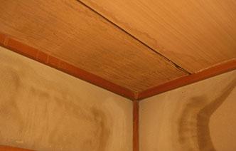 天井にシミがある・⾬漏りしている