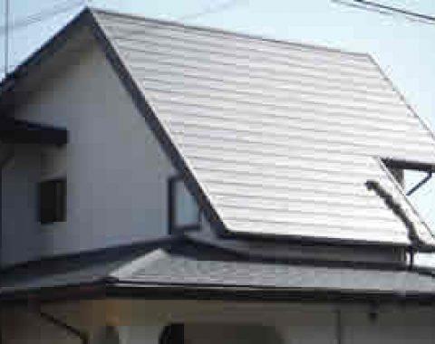 生駒市 柳様邸 カラーベストの上から横暖ルーフへサムネイル