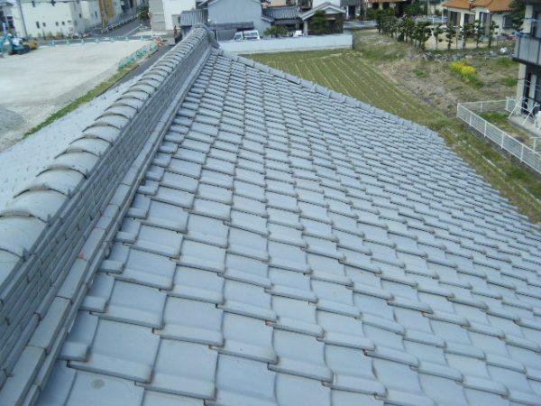 香芝市の屋根瓦葺き替え工事が終わりましたサムネイル