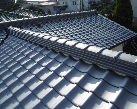 生駒市の屋根瓦葺き替え工事サムネイル