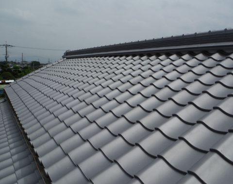 広陵町の屋根瓦葺き替え工事サムネイル