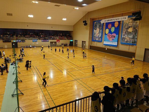 田原本町でドッジボールの試合でした。サムネイル