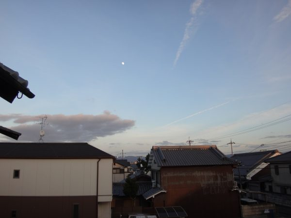 月が綺麗に見えています。サムネイル