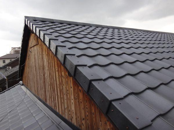 屋根の重量差 (燻し和瓦から軽量瓦へ葺き替えた場合)サムネイル