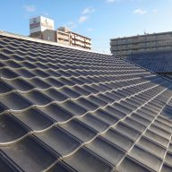 奈良市 燻し和瓦から軽量瓦への葺き替え工事サムネイル