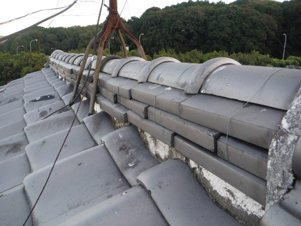 棟瓦の積み替え工事サムネイル