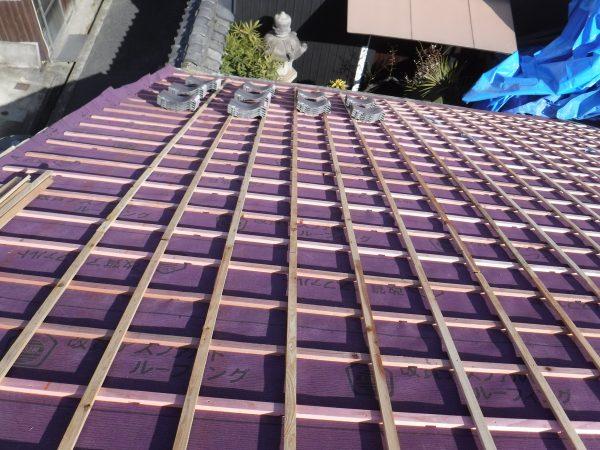 屋根瓦撤去~下地木工事までサムネイル